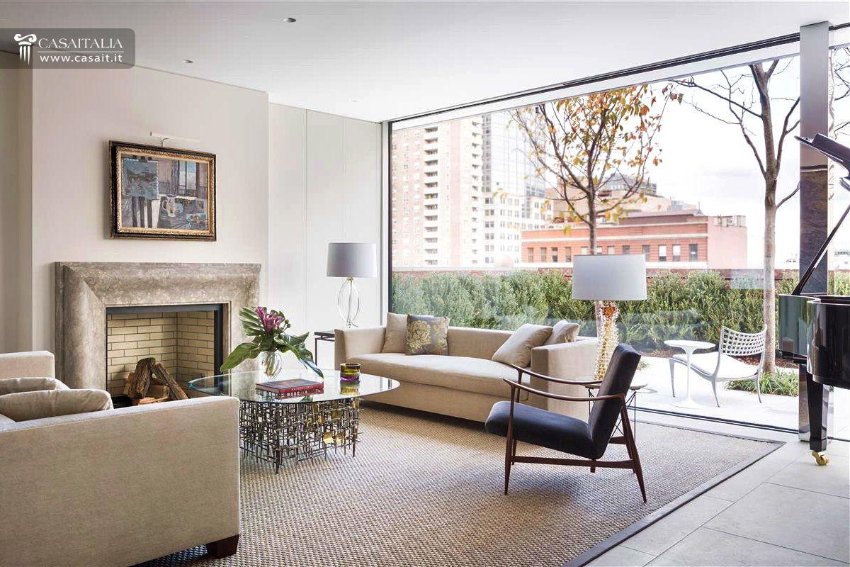 Attico di lusso con terrazzo e piscina in vendita a tribeca for Soggiorno new york