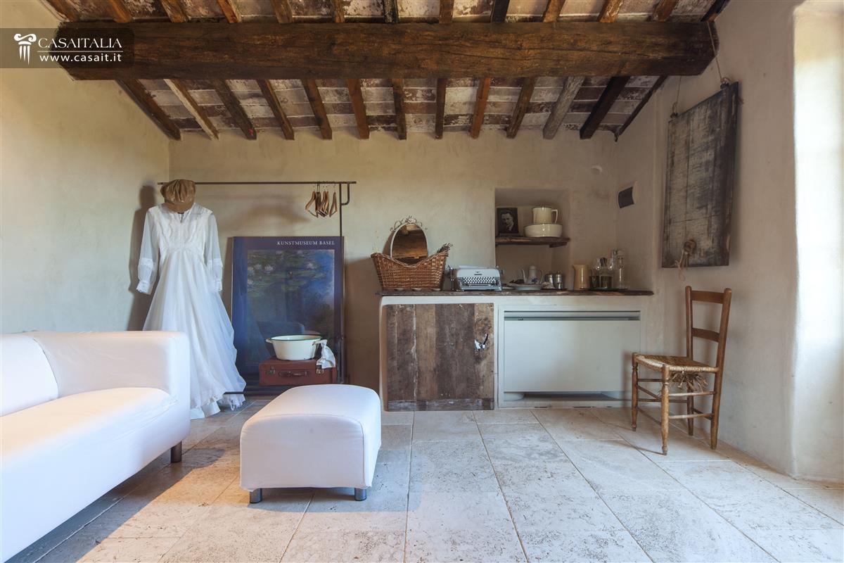 interni ville e casali lussuosi : Toscana - Val dOrcia - Casale di lusso in vendita